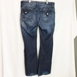KUT from the Kloth Flap Pocket Boot Cut Jeans 10